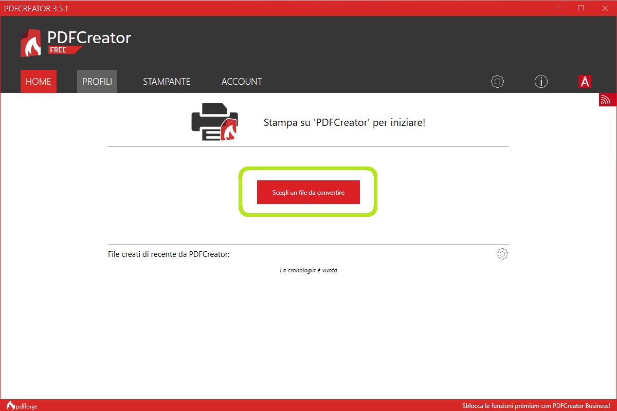 Home page pdf creator